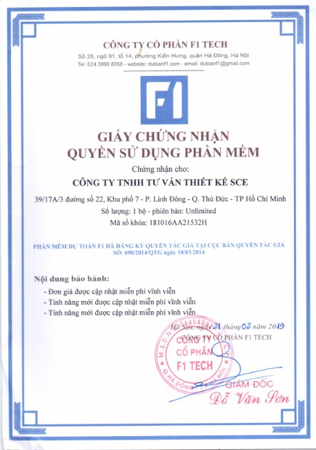 Other certificate